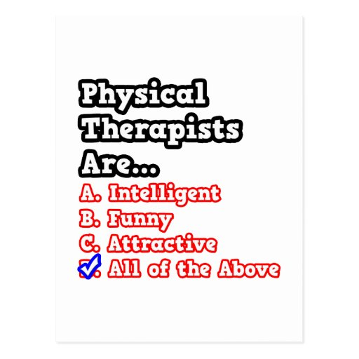 National Sleep With A Physical Therapist Day Post Card