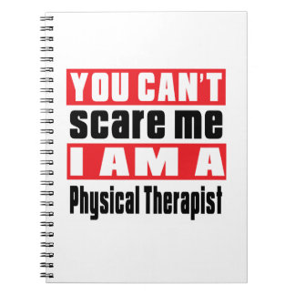 Physical Therapist scare designs Spiral Note Books