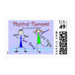 """Physical Therapist Stick People """"Keep Moving"""" Stamps"""
