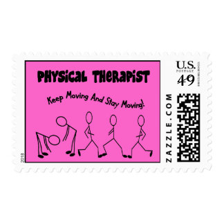Physical Therapist Stick People Postage Stamps