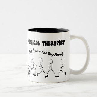 Physical Therapist T-Shirts and Gifts Two-Tone Coffee Mug