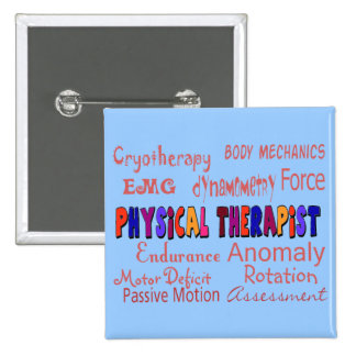Physical Therapist Terminology Gifts Button