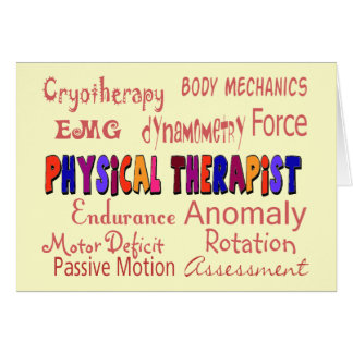 Physical Therapist Terminology Gifts Card