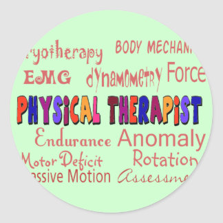 Physical Therapist Terminology Gifts Classic Round Sticker