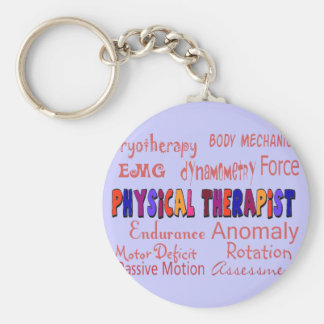 Physical Therapist Terminology Gifts Basic Round Button Keychain