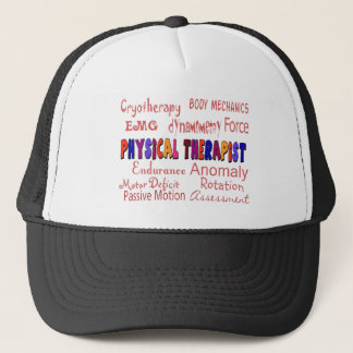 Physical Therapist Terminology Gifts Trucker Hat