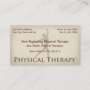 Physical The Therapy Business Cards