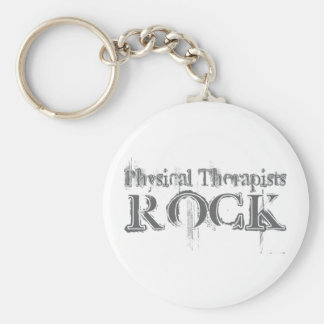 Physical Therapists Rock Key Chain