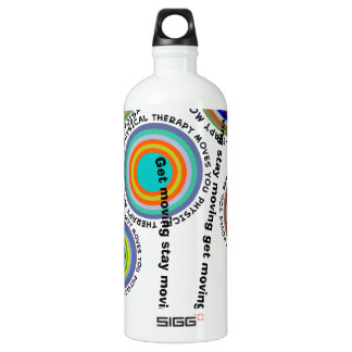 Physical Therapy Artsy Aluminum Water Bottle