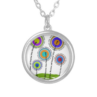 Physical Therapy Artsy Gifts Round Pendant Necklace