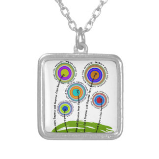 Physical Therapy Artsy Gifts Silver Plated Necklace