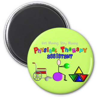 Physical Therapy Assistant Gifts Unique Graphics 2 Inch Round Magnet