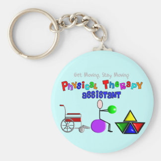 Physical Therapy Assistant Gifts Unique Graphics Basic Round Button Keychain