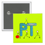 Physical Therapy Assistant Gifts Unique Graphics Pinback Button