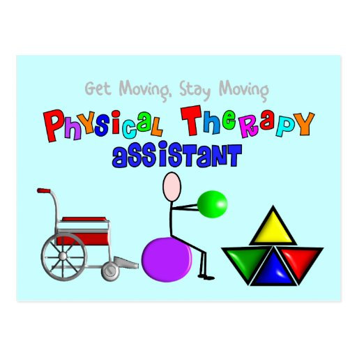 Physical Therapy Assistant Gifts Unique Graphics Postcards