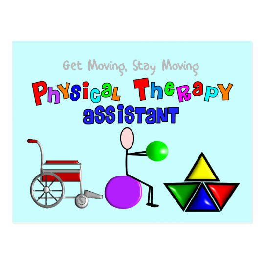 Physical Therapy Assistant Gifts Unique Graphics Postcard