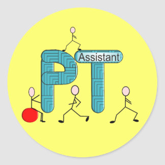 Physical Therapy Assistant Gifts Unique Graphics Classic Round Sticker
