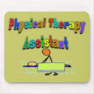 Physical Therapy Assistant--Stick Figure Design Mouse Pad