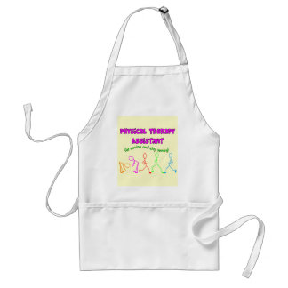 Physical Therapy Assistant Stick People Design Adult Apron
