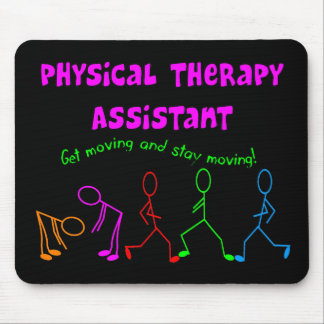 Physical Therapy Assistant Stick People Design Mouse Pad