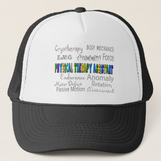 """Physical Therapy Assistant """"Terminology"""" Design Trucker Hat"""