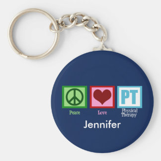 Physical Therapy Blue Custom Keychain