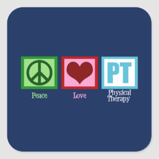 Physical Therapy Blue Peace Love Sticker
