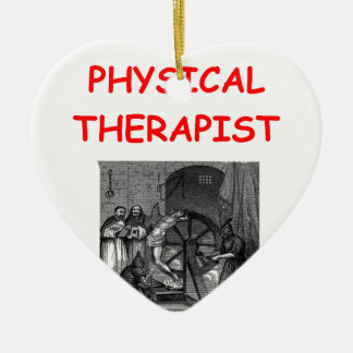 physical therapy ceramic ornament