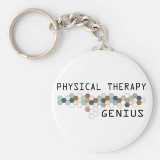 Physical Therapy Genius Basic Round Button Keychain