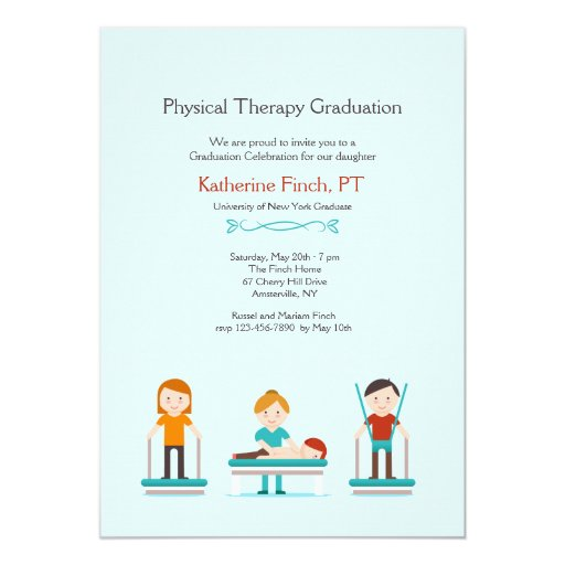 Physical Therapy Graduation Invitation | Zazzle