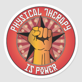 Physical Therapy Is Power Classic Round Sticker