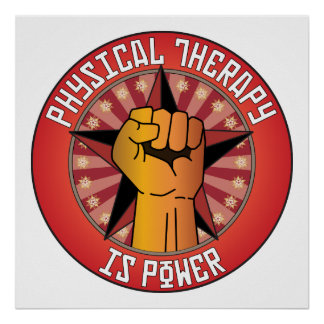 Physical Therapy Is Power Poster