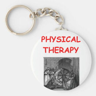 physical therapy basic round button keychain