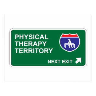 Physical Therapy Next Exit Postcard