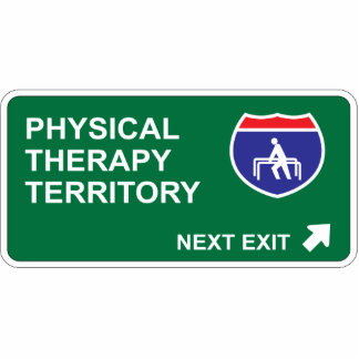 Physical Therapy Next Exit Statuette