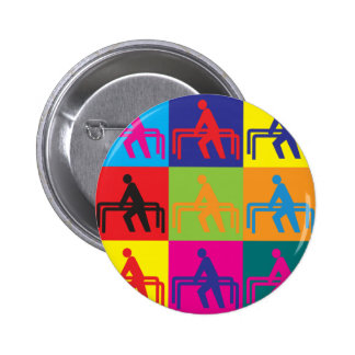 Physical Therapy Pop Art Pinback Button