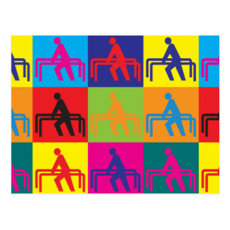 Physical Therapy Pop Art Postcard