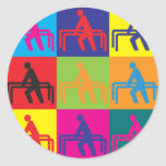 Physical Therapy Pop Art Round Sticker
