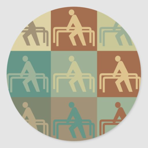 Physical Therapy Pop Art Round Stickers