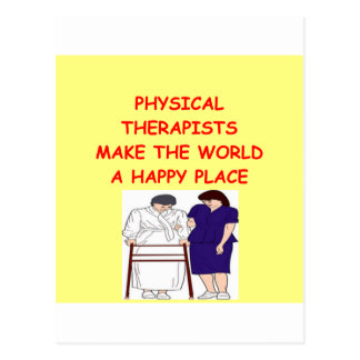 physical therapy postcard