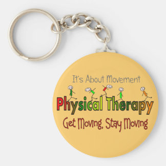 Physical Therapy Products and Gifts Basic Round Button Keychain