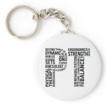 Physical Therapy PT Keychain