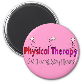 Physical Therapy Stick People Design 2 Inch Round Magnet