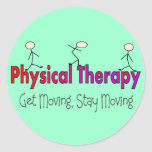 Physical Therapy Stick People Design Classic Round Sticker