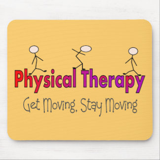 Physical Therapy Stick People Design Mouse Pad