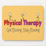 Physical Therapy Stick People Design Mousepad