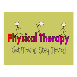 Physical Therapy Stick People Design Postcard