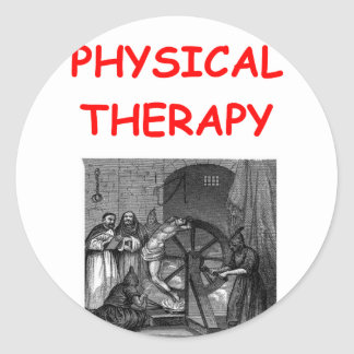 physical therapy round stickers