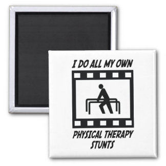 Physical Therapy Stunts Fridge Magnet