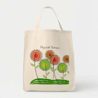 Physical Therapy Tote Bag Whimsical PT Flowers